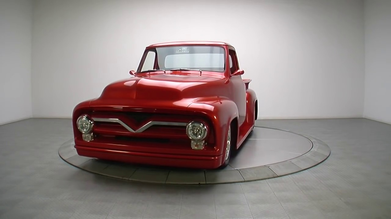 135930 1955 Ford F100 Youtube Red