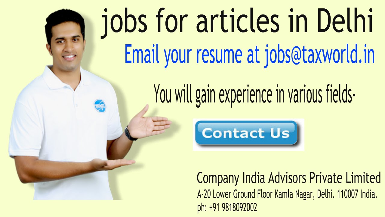 jobs for semi qualified article clerk in delhi jobs for semi qualified article clerk in delhi