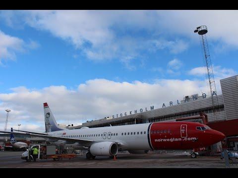Norwegian Air Flight Report || Oslo To Stockholm || Economy Class B737-800  ✈