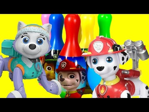 Paw Patrol Zoomer Everest & Marshall Go Bowling! Toy Review | Fizzy Toy Show