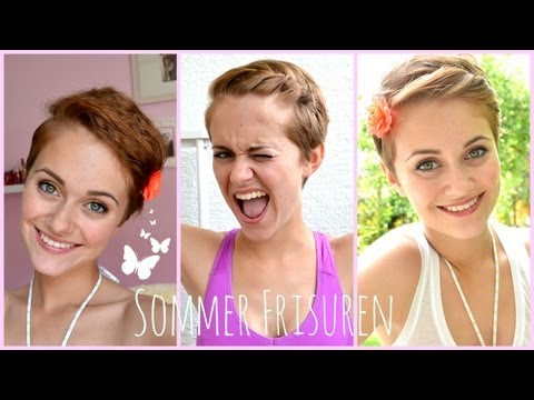 Summer Hairstyles Fur Kurze Haare No Heat Youtube