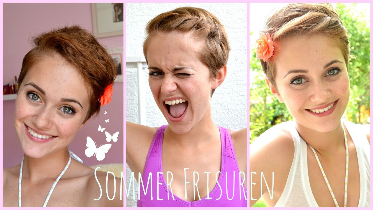 SUMMER HAIRSTYLES Für KURZE HAARE No Heat!!! YouTube