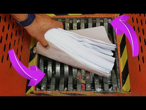 Experiment Shredding 1000 Sheets Of Paper The Crusher