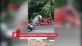 Pemkot DKI Jakarta, Melakukan Penyemprotan Disinfektan - inilah.com
