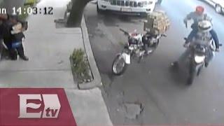 Cámara de vigilancia capta a ladrones de 200 mil pesos en el DF / Mariana H.