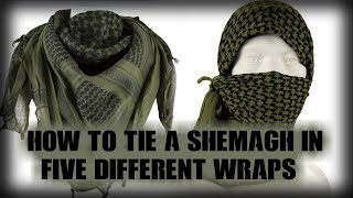 How to tie a Sheṁagh in Five different wrap's