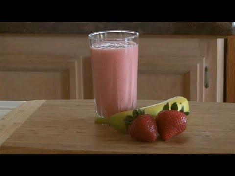 Non-Dairy, Banana-Strawberry Smoothie : Smoothies