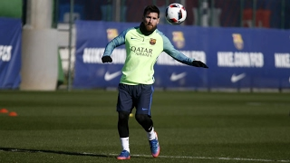 Fc barcelona training session: focused on reaching yet another final