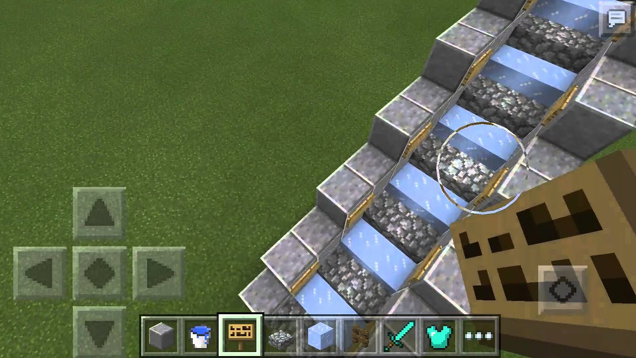 Minecraft PEHow To Make A Working Escalator YouTube