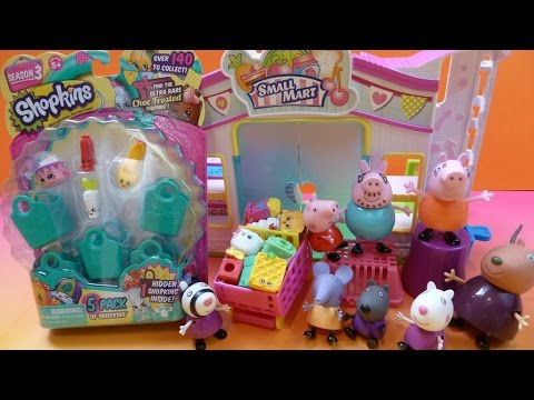 ✿Heo Peppa Pig Đi Siêu Thị Shopkins  ✿ Peppa Pig Go SHOPKINS Supermarket Shopkins season 3 Package