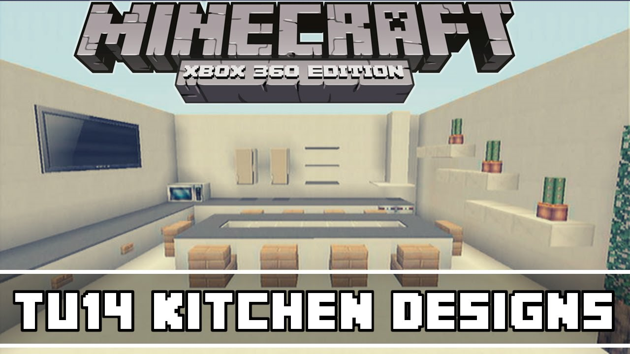 Minecraft Kitchen Ideas Xbox minecraft xbox 360 tu14 kitchen designs - youtube