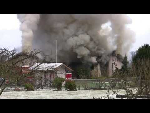 Large Residential Fire, Arlington, WA 02-22-2011