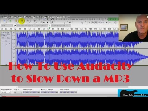 How to slow down the tempo of a mp3 file using Audacity