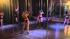 Toxic - Britney Spears Beginner Pole Dance Routine 1-26-15