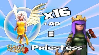 Clash of clans - 16-Heiler, x Lvl 27 AQ = Priesterin ( Massen-Heiler-Angriff )