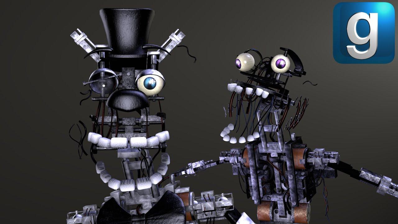 Gmod FNAF | The Stylized Withered Animatronics' Endoskeletons!