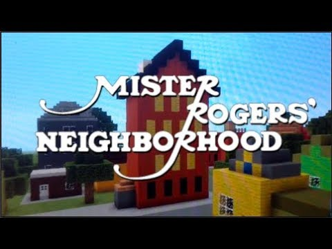 Mister Rogers Opening in Minecraft