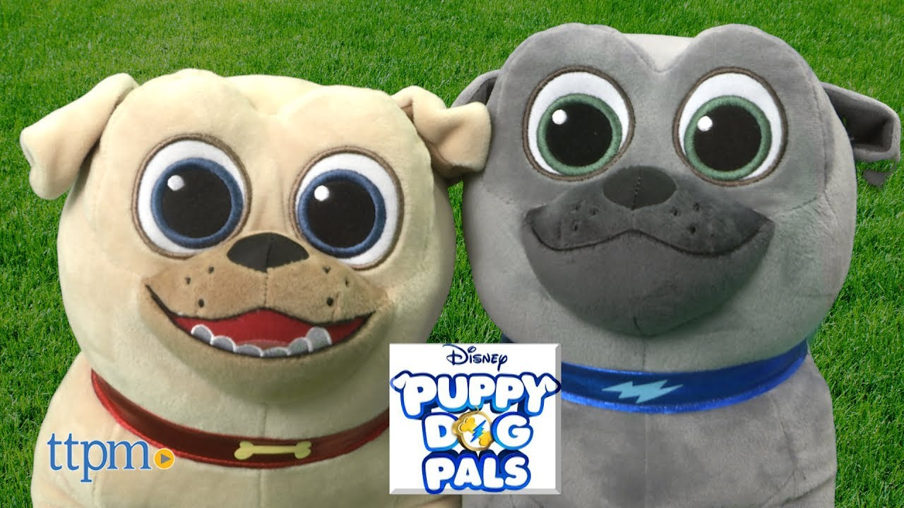 Puppy Dog Pals Bingo Rolly Medium Plush From Just Play Youtube