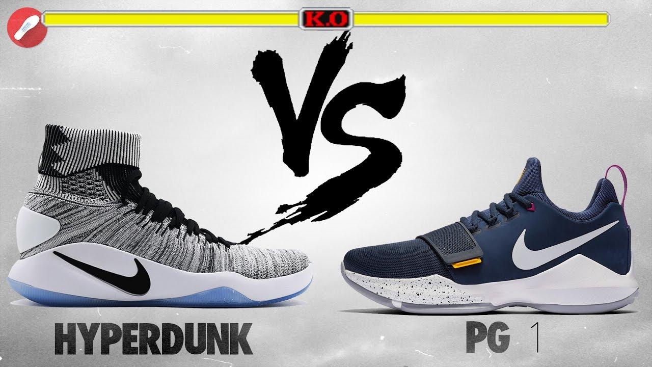 Nike Hyperdunk 2016 Flyknit vs PG 1! - YouTube c4ecc54e850