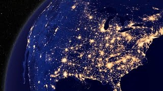 10 Countries at Night from SPACE