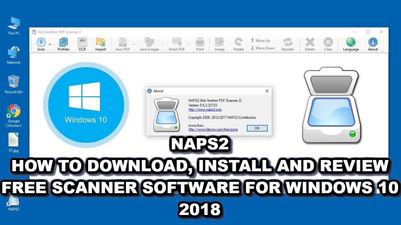 NAPS2 Best Free Windows Scanner Software Installation Tutorial for 2019