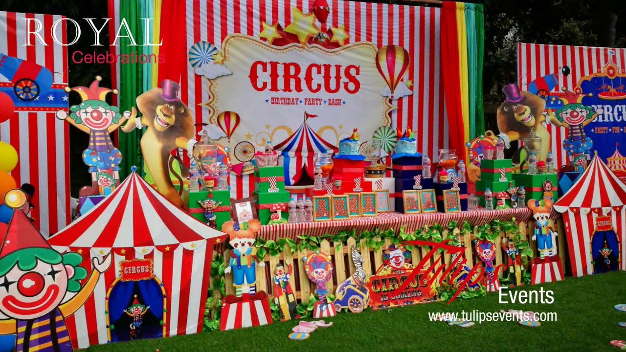 carnival circus themed birthday party planner in pakistan youtube