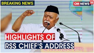Here's Everything You Need To Know About RSS Chief Mohan Bhagwat's Vijaydashmi Speech