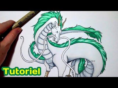 Dessiner Un Dragon Haku Le Voyage De Chihiro Tuto Youtube