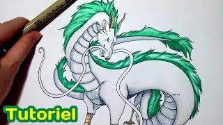 Le Voyage de Chihiro : Comment dessiner Haku en Dragon ? Tutoriel d...