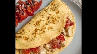 Кабачковые блины с начинкой из сыра курицы и помидоров рецепт Shorts
