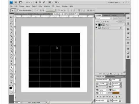 how to draw table in photoshop cs5