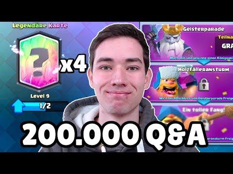 200.000 ABOS! 😍   Q&A, F2P Challenge Mit 4 Legendären Karten   Clash Royale Deutsch