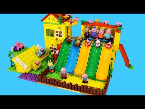Peppa Pig Blocks Mega House Construction Lego Sets With Masha and the Bear Toys For Kids #4