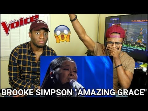 The Voice 2017 Brooke Simpson  Top 10: Amazing Grace REACTION