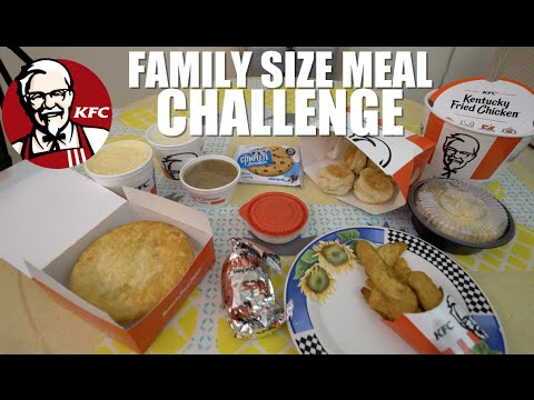Kfc Family Size Meal Challenge 6366 Calories Youtube