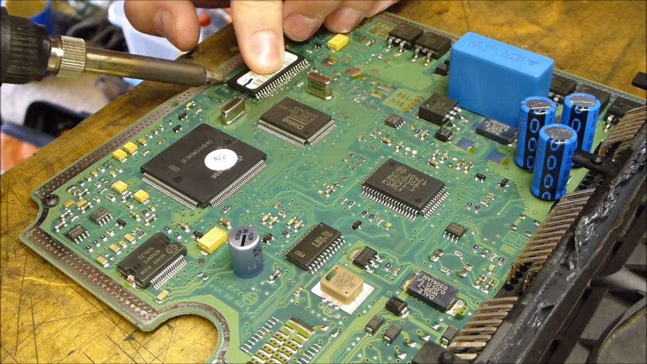 How to de solder and repair broken bosch edc15c2 ecu from 20 hdi how to de solder and repair broken bosch edc15c2 ecu from 20 hdi youtube publicscrutiny Gallery