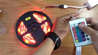 Cara pasang LAMPU STRIP LED RGB dengan Remote CONTROL | Unboxing & Review By HapeHack