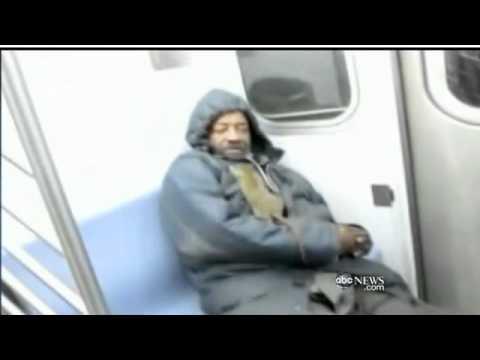 Rat On NYC Subway Crawls On Man