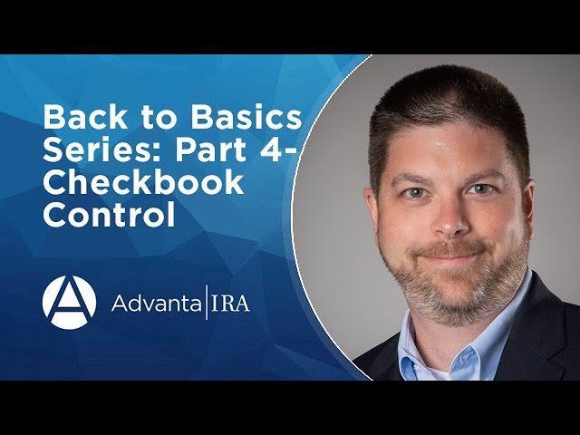 Back to Basics Series: Part 4- Checkbook Control