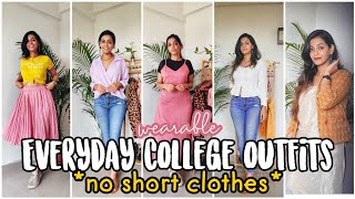 Everyday Indian college outfit ideas with dresscodes which you can wear for real *no short clothes*