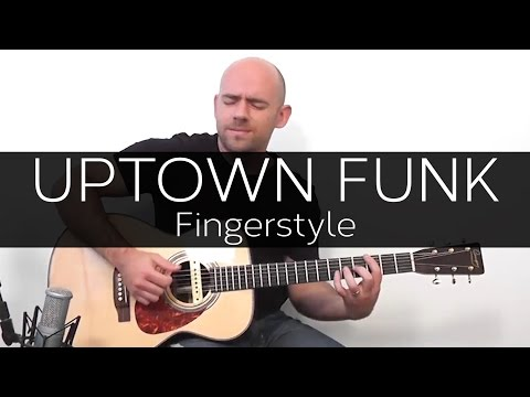 Uptown funk (Bruno Mars) - Acoustic Guitar Solo Cover (Violão Fingerstyle)