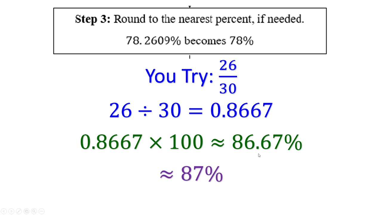 how to calculate a percentage and a letter grade