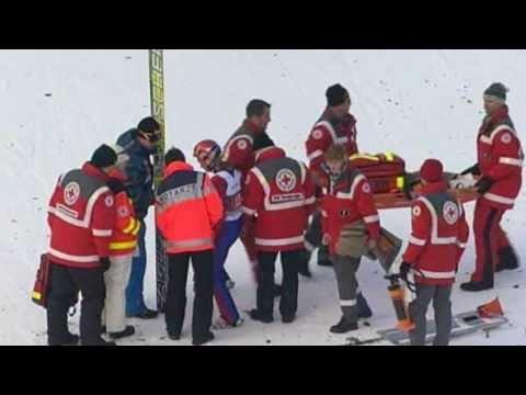 Ville Larinto Crash @ Garmisch-Partenkirchen 2011