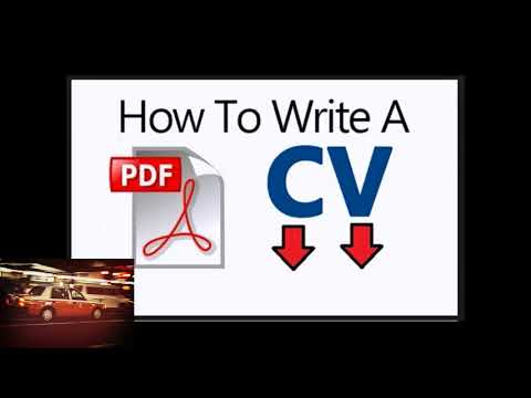 All What You Need To Know About How To Write Cv Pdf