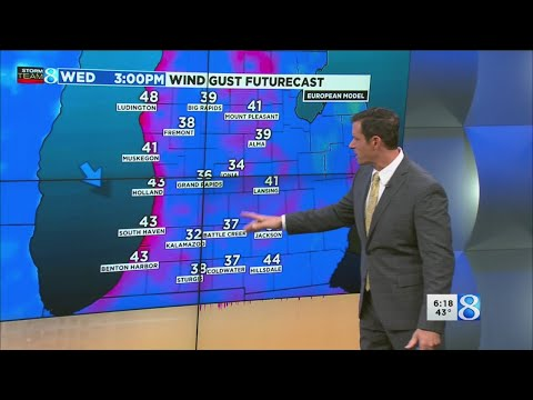Wet, windy Wednesday across West Michigan