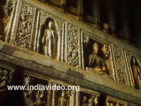 Ajanta Caves, the finest example of Buddhist rock-cut architecture, Maharashtra