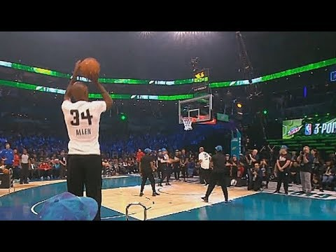 NBA Legends 3 Point Contest! Ray Allen vs Dell Curry, Mark Price, & Glen Rice