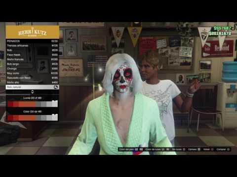 Grand Theft Auto V_poner 2 colores en cabello