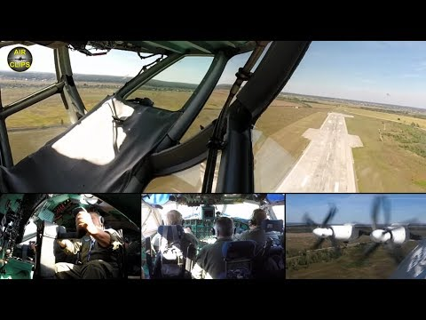 Ferry flight to Zurich: Antonov 22 ULTIMATE COCKPIT MOVIE 1 of 3 [AirClips full flight series]