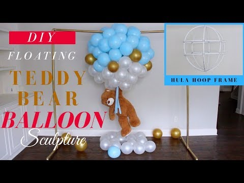Dollar Tree Floating Teddy Bear Balloon Sculpture | Most ADORABLE Baby Shower Decor Idea